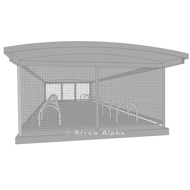 Lockable bike parking enclosure