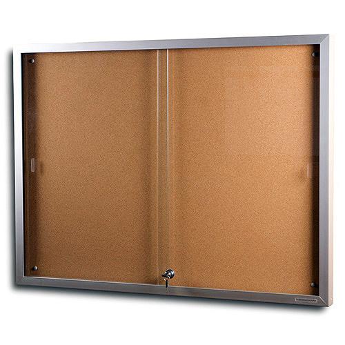 sliding glass door notice board