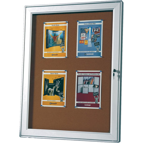 MD2 Outdoor Lockable Notice Board Arrow Alpha 1
