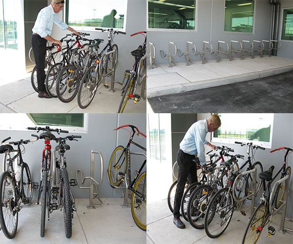Space saving bike parking designs
