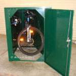 Secure bicycle locker