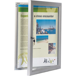 Lockable poster frame